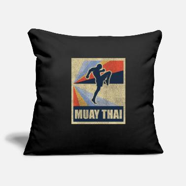 Teknik Muay Thai Thai Boxing Gift Fighting Retro - Soffkuddsöverdrag, 44 x 44 cm