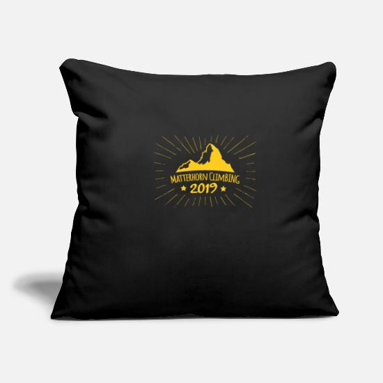 Birthday Pillow Cases - Matterhorn Ascension 2019 Zermatt Gift Idea - Pillowcase 17,3'' x 17,3'' (45 x 45 cm) black