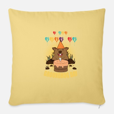 Birthday On Marmot Gift - Pillowcase 17,3'' x 17,3'' (45 x 45 cm)