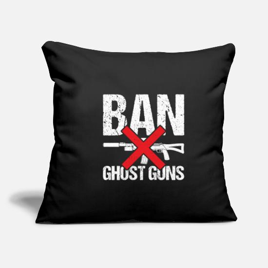 Ghost Pillow Cases - Ban ghost cannons - Pillowcase 17,3'' x 17,3'' (45 x 45 cm) black