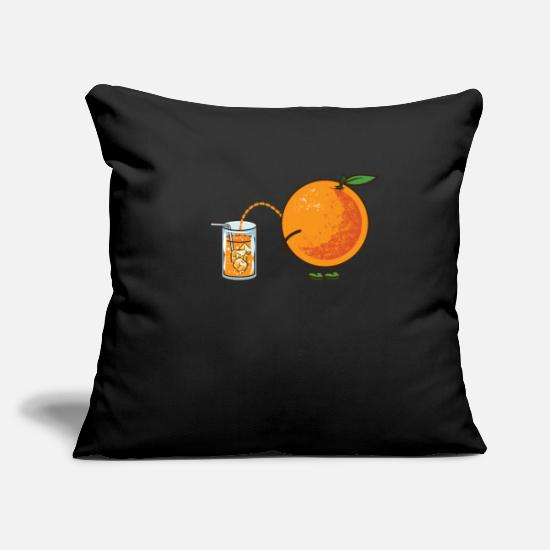 Orange Juice Pillow Cases - Orange pee pee Funny juice healthy - Pillowcase 17,3'' x 17,3'' (45 x 45 cm) black