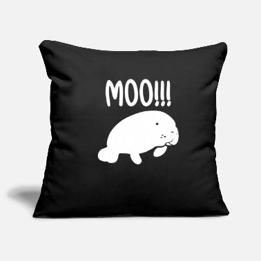 Muh Muh !!!!!!! manatee - Pillowcase 17,3'' x 17,3'' (45 x 45 cm)