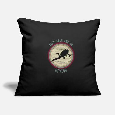 Combat Diver Keep Calm saying diving retro gift divers - Pillowcase 17,3'' x 17,3'' (45 x 45 cm)
