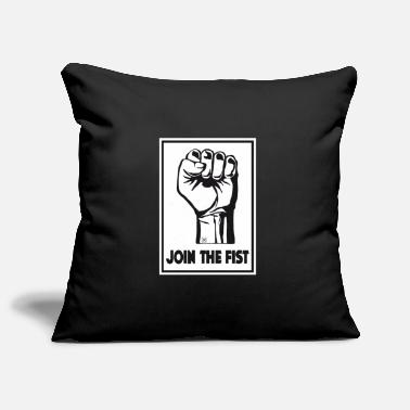Join Join the fist - Pillowcase 17,3'' x 17,3'' (45 x 45 cm)