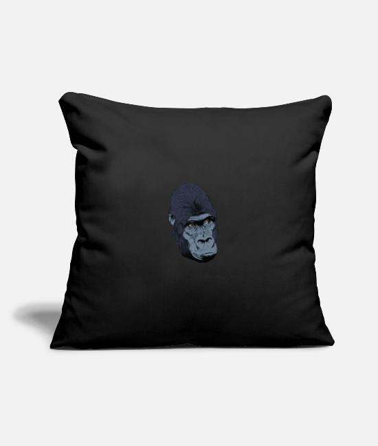 Easter Pillow Cases - Gorilla monkey head t-shirt for fans and lovers - Pillowcase 17,3'' x 17,3'' (45 x 45 cm) black