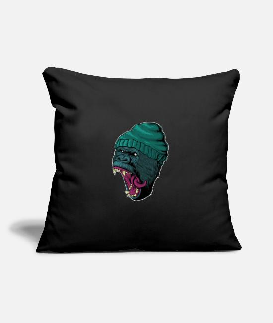 Easter Pillow Cases - Stylish gorilla gangster with cap - Pillowcase 17,3'' x 17,3'' (45 x 45 cm) black