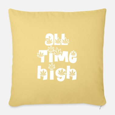 Fonts all time high saying font cannabis - Pillowcase 17,3'' x 17,3'' (45 x 45 cm)