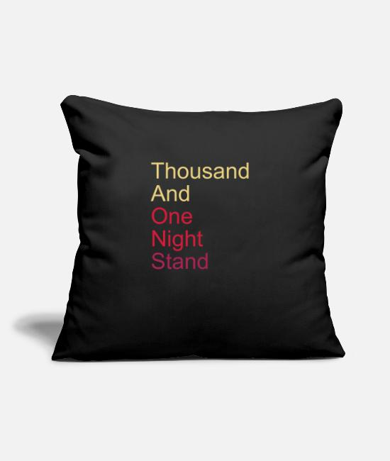 Bed Pillow Cases - thousand and one night stand 3colors - Pillowcase 17,3'' x 17,3'' (45 x 45 cm) black