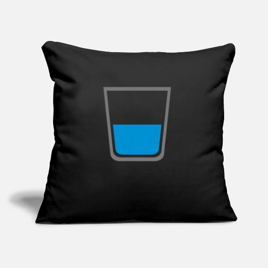 Whisky Pillow Cases - glass - Pillowcase 17,3'' x 17,3'' (45 x 45 cm) black