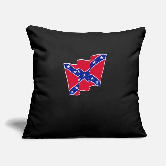 Confederate Pillow Cases - Rebel Flag / Dixie Flag / Südstaatenflagge (3C) - Pillowcase 17,3'' x 17,3'' (45 x 45 cm) black
