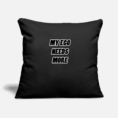 Ego my ego my ego black - Pillowcase 17,3'' x 17,3'' (45 x 45 cm)