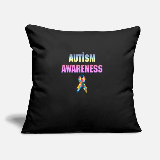 Heart Pillow Cases - Autism Awareness Day - Pillowcase 17,3'' x 17,3'' (45 x 45 cm) black