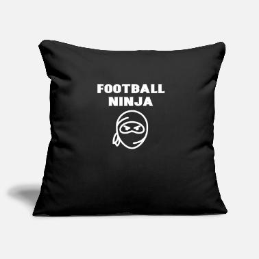 Foot Football Ninja Funny Young Boy Girl Player Gift - Pillowcase 17,3'' x 17,3'' (45 x 45 cm)