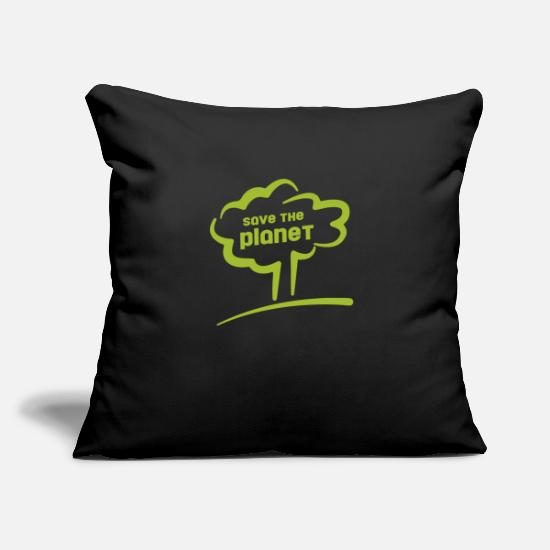 The Force Pillow Cases - save the planet - save the planet - Pillowcase 17,3'' x 17,3'' (45 x 45 cm) black