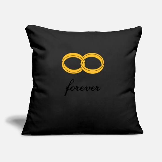 Marriage Pillow Cases - wedding rings forever - Pillowcase 17,3'' x 17,3'' (45 x 45 cm) black