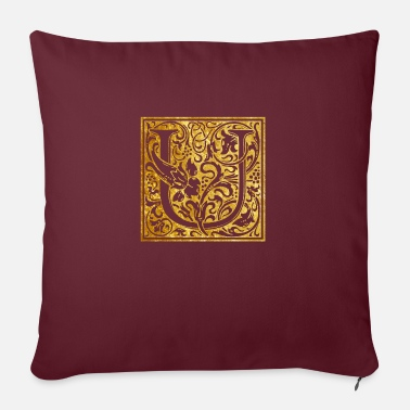 Initial Initials-U - Pillowcase 17,3'' x 17,3'' (45 x 45 cm)