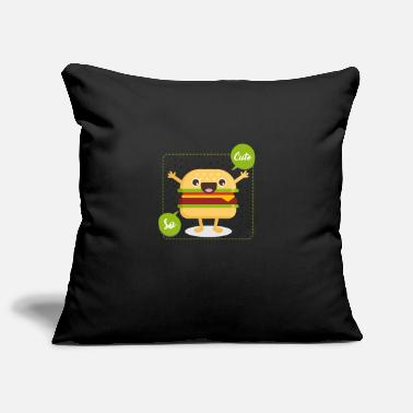 Cute cute hamburger - Pillowcase 17,3'' x 17,3'' (45 x 45 cm)