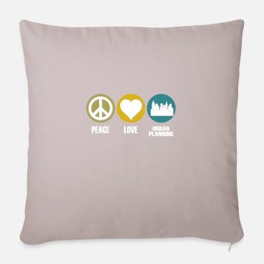 Urbanismo Camiseta de arquitectos Peace Love and Urban Planning - Funda de cojín