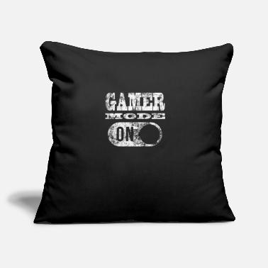 Gamer GAMER MODE ON! GAMER GAMER GAMER GAMER GAMER - Pillowcase 17,3'' x 17,3'' (45 x 45 cm)