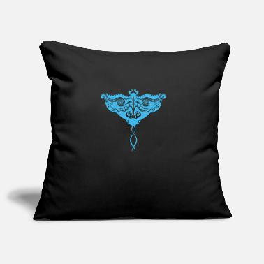 Tribal Maori Stingray Ocean Blue - Gift Idea - Pillowcase 17,3'' x 17,3'' (45 x 45 cm)