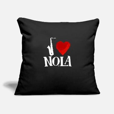 New Orleans Saints I Heart New Orleans remix white by Tais Tees - Pillowcase 17,3'' x 17,3'' (45 x 45 cm)