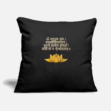 Mantra Gayatri Mantra - Buddhism - Hinduism - Mantra - Pillowcase 17,3'' x 17,3'' (45 x 45 cm)