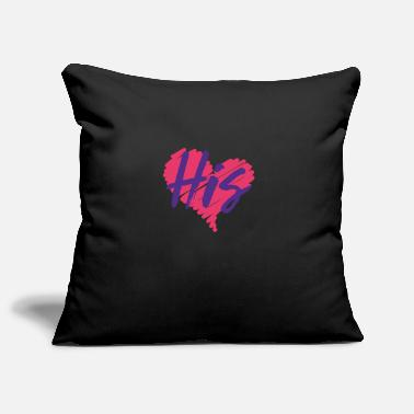 Valentines Love - His, Hers - Pillowcase 17,3'' x 17,3'' (45 x 45 cm)
