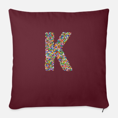 Initial K - Pillowcase 17,3'' x 17,3'' (45 x 45 cm)