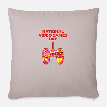 National Colours National Video Games Day Colour Splash Controller - Pillowcase 17,3'' x 17,3'' (45 x 45 cm)