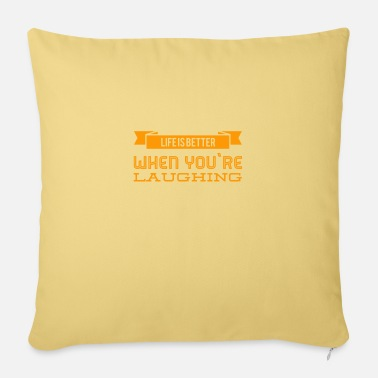 Positive increase your quality of life - Pillowcase 17,3'' x 17,3'' (45 x 45 cm)