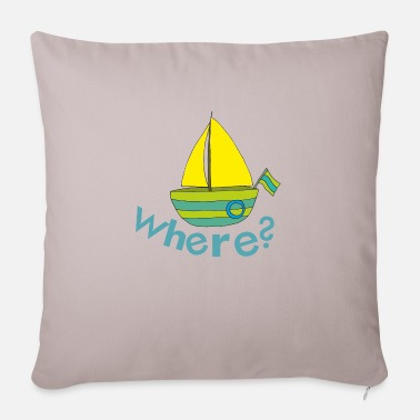 sailboat where - Pillowcase 17,3'' x 17,3'' (45 x 45 cm)