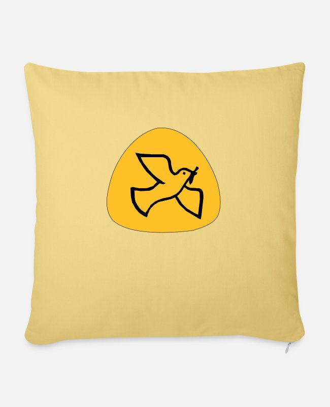 Beak Pillow Cases - Dove of peace - Pillowcase 17,3'' x 17,3'' (45 x 45 cm) washed yellow