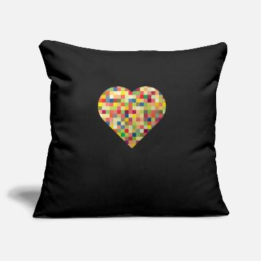 Heart pixel heart - Pillowcase 17,3'' x 17,3'' (45 x 45 cm)