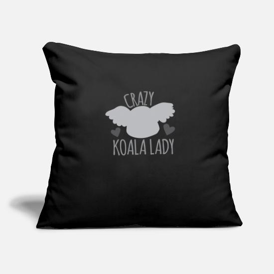 Nocturnal Pillow Cases - Crazy koala lady - Pillowcase 17,3'' x 17,3'' (45 x 45 cm) black