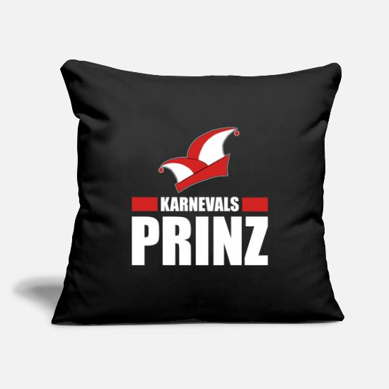 Carneval Pillow Cases - Carnival Prince Alaaf Carnival Costume - Pillowcase 17,3'' x 17,3'' (45 x 45 cm) black