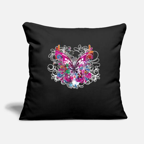Gift Idea Pillow Cases - Butterfly butterfly - Pillowcase 17,3'' x 17,3'' (45 x 45 cm) black