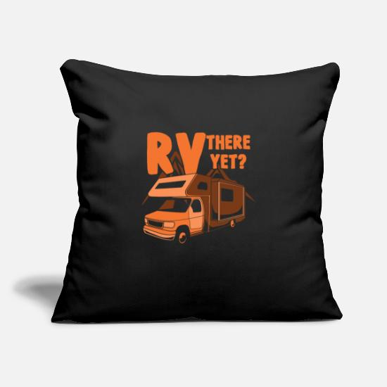 Camper Pillow Cases - Caravan Camper Gift | Caravan campers - Pillowcase 17,3'' x 17,3'' (45 x 45 cm) black