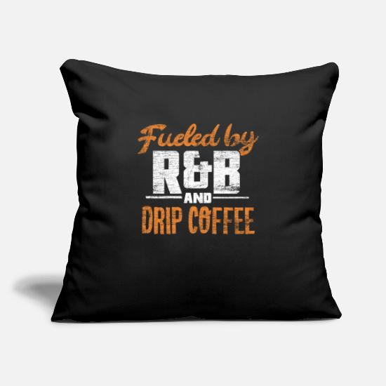 Rnb Pillow Cases - R & B music and filter coffee - Pillowcase 17,3'' x 17,3'' (45 x 45 cm) black