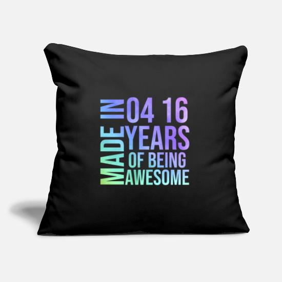 Birthday Pillow Cases - Sweet 16th birthday party gift - Pillowcase 17,3'' x 17,3'' (45 x 45 cm) black