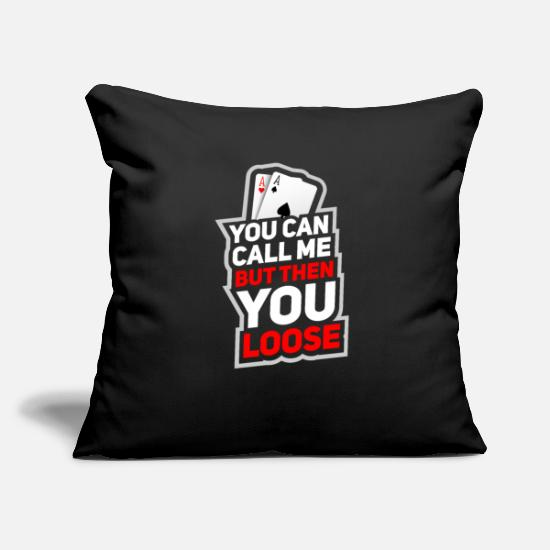 Birthday Pillow Cases - Poker game Texas Holdem gift I poker - Pillowcase 17,3'' x 17,3'' (45 x 45 cm) black