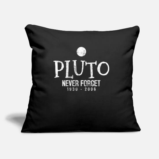 Pluto Pillow Cases - Pluto Planet Science scientist - Pillowcase 17,3'' x 17,3'' (45 x 45 cm) black
