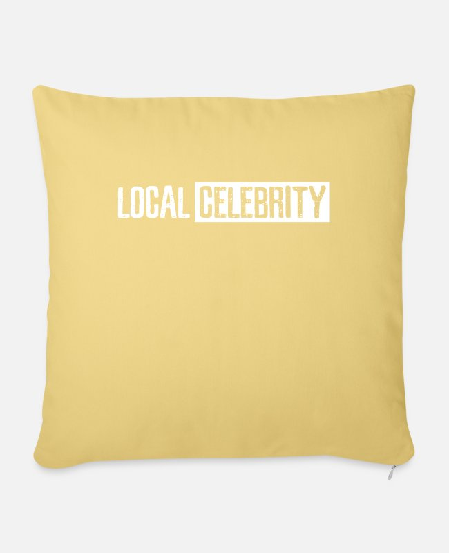 Artist Pillow Cases - Local famous actress and actress - Pillowcase 17,3'' x 17,3'' (45 x 45 cm) washed yellow