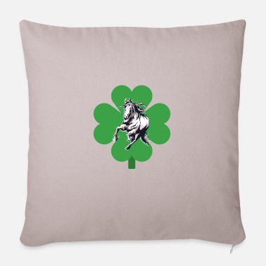 St Patricks Day Horse Heart & Leaf Irish Gift Horse Lover St. - Kissenhülle