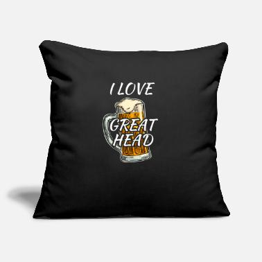 I Love I love great Head white - Pillowcase 17,3'' x 17,3'' (45 x 45 cm)