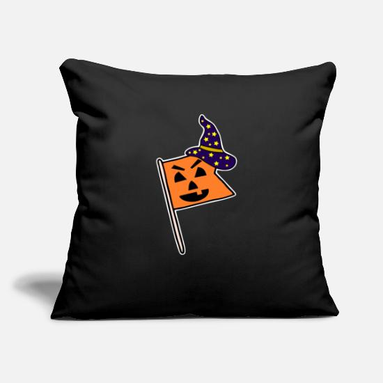Witches Broom Pillow Cases - flag - Pillowcase 17,3'' x 17,3'' (45 x 45 cm) black
