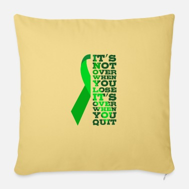 Cancer HOPE SAY Kidney Cancer Gift Green Ribbon - Pillowcase 17,3'' x 17,3'' (45 x 45 cm)