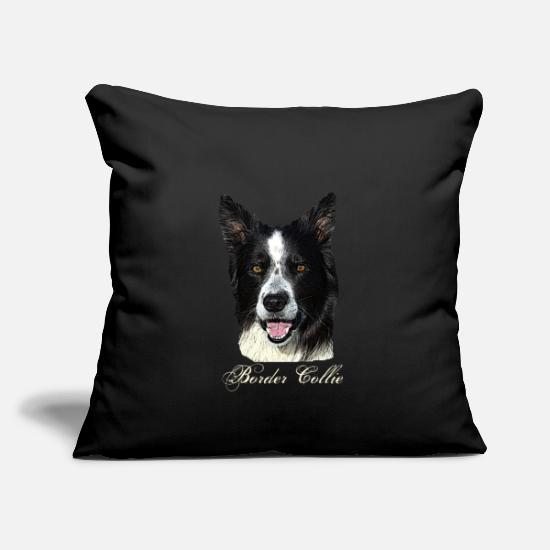Dog Pillow Cases - Border Collie, Colli, Herding Dog, Agility, Purebred Dog, - Pillowcase 17,3'' x 17,3'' (45 x 45 cm) black