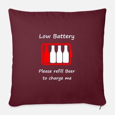 Low Battery - Please refill Beer to charge me - Pillowcase 17,3'' x 17,3'' (45 x 45 cm)