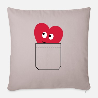 Humorous Son Provoking heart in pocket - Pillowcase 17,3'' x 17,3'' (45 x 45 cm)