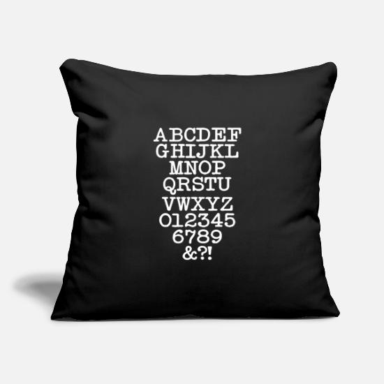 Chemistry Pillow Cases - alphabet - Pillowcase 17,3'' x 17,3'' (45 x 45 cm) black